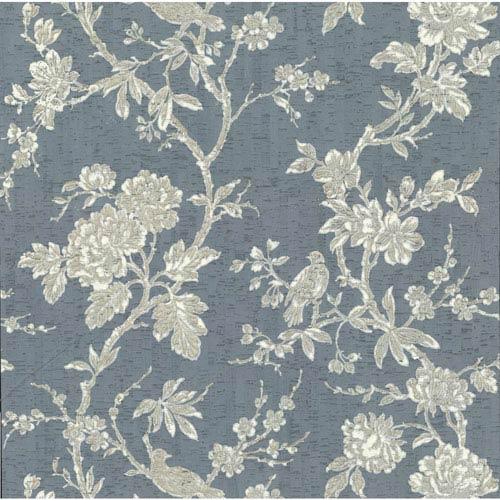 Organic Cork Prints Equinox Blue and Beige Wallpaper