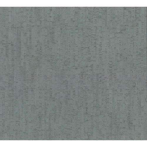 Organic Cork Prints Plain Bamboo Blue Wallpaper