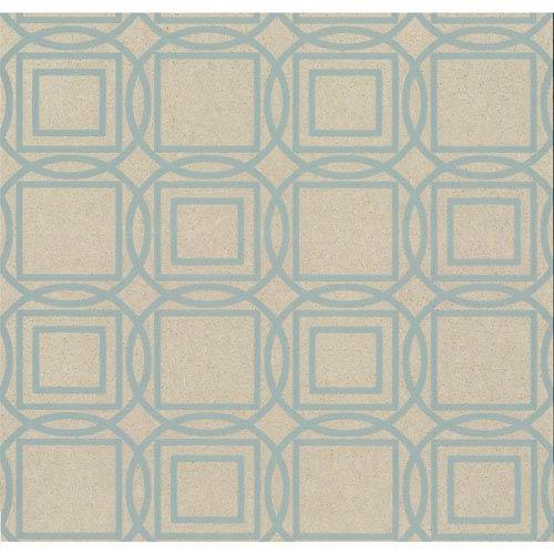 York Wallcoverings Organic Cork Prints Labyrinth Blue Wallpaper