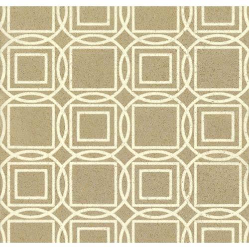 Organic Cork Prints Labyrinth Metallic Wallpaper