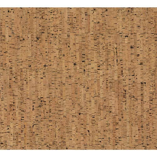 Organic Cork Prints Plain Bamboo Brown Wallpaper