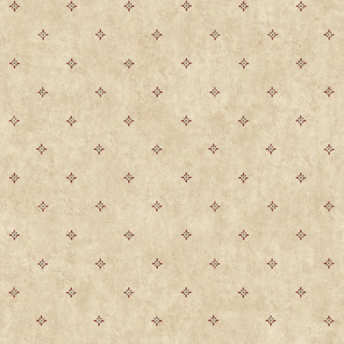 York Wallcoverings Rustic Living Ditzy Spot Beige Wallpaper - SAMPLE SWATCH ONLY
