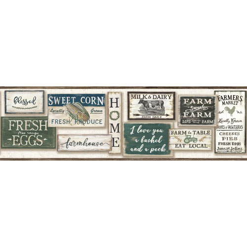 Rustic Living Farm To Table Off White Border- SAMPLE SWATCH ONLY