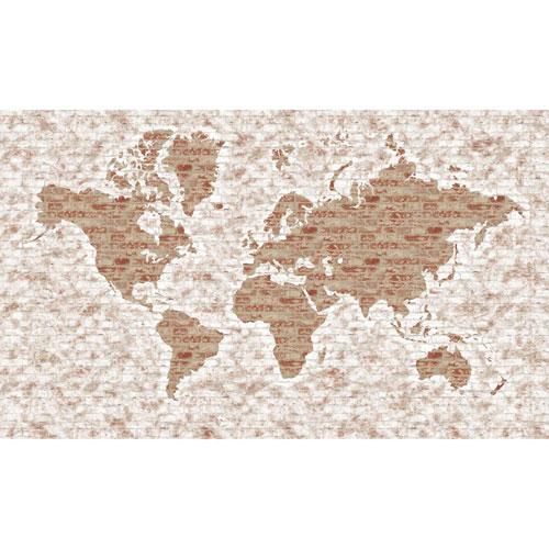 Rustic Living White World Map
