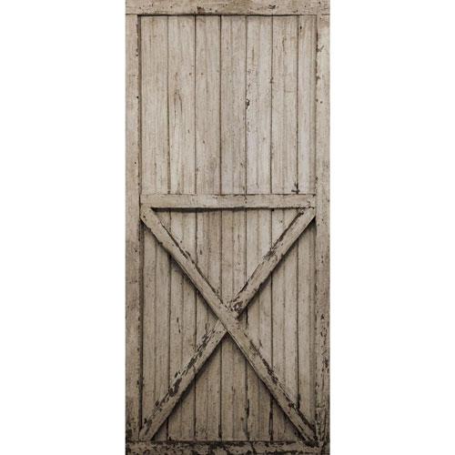 Rustic Living Brown Barn Door