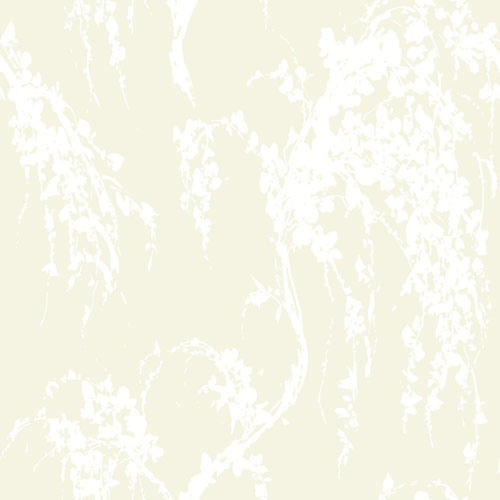 York Wallcoverings Young At Heart Willow Tree Green and White/Off White Wallpaper