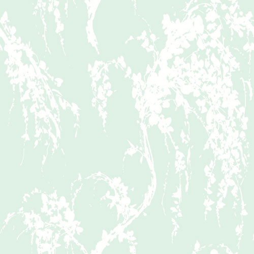 Young At Heart Willow Tree Green and White/Off Whites Wallpaper