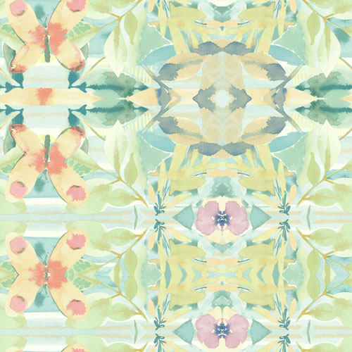 York Wallcoverings Young At Heart Synchronized Multicolor Wallpaper - SAMPLE SWATCH ONLY