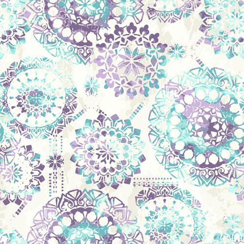 York Wallcoverings Young At Heart Bohemian Purple, Blue and Beige Wallpaper