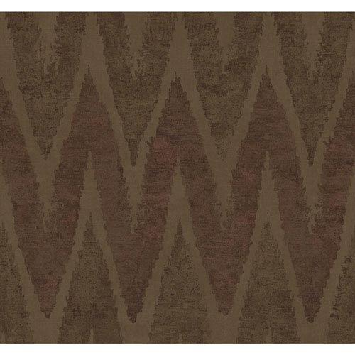 Ronald Redding Urban Taupe and Metallic Copper Chaparel Wallpaper