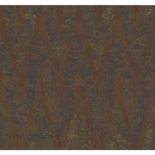 Ronald Redding Urban Copper and Deep Green Chaparel Wallpaper