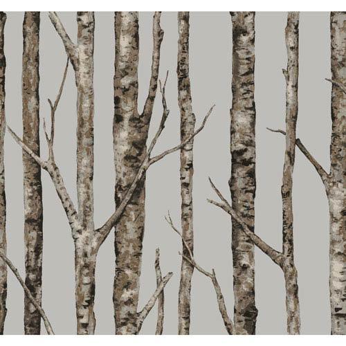 Ronald Redding Urban Grey The Birches Wallpaper