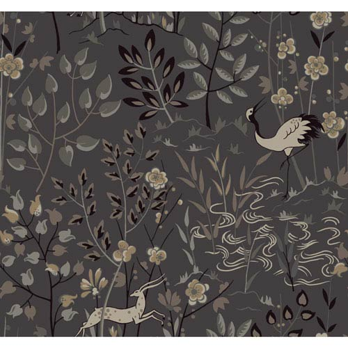 York Wallcoverings Ronald Redding Urban Dark Grey Aspen Wallpaper