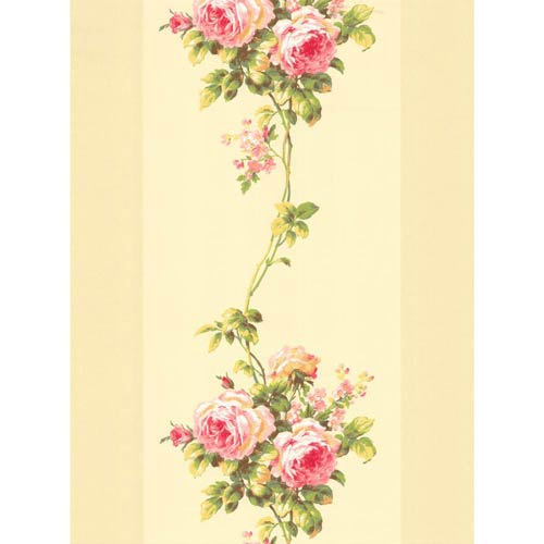 York Wallcoverings Inspired by Color Beige Rose Stripe Wallpaper