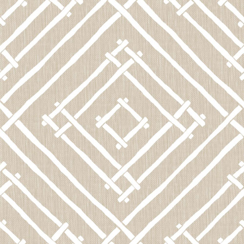 York Wallcoverings Madcap Cottage Chez Bamboo Pressed Linen Wallpaper