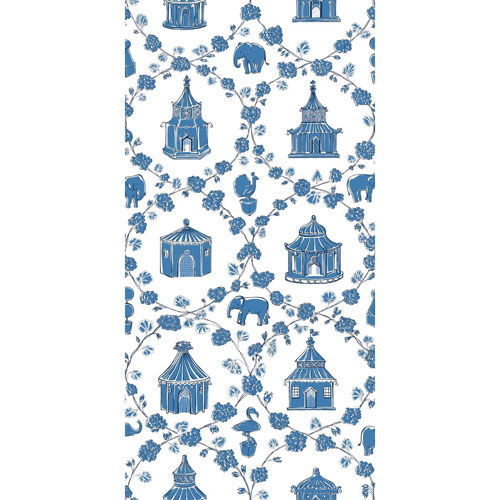 Madcap Cottage Into the Garden Ocean Blue Wallpaper - SAMPLE SWATCH ONLY
