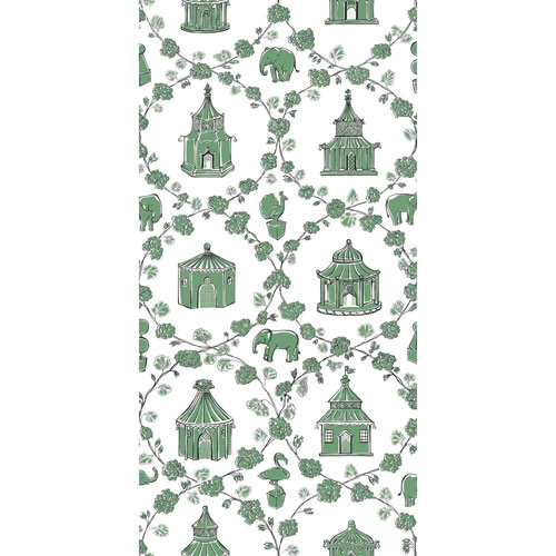 Madcap Cottage Into the Garden Moss Green Wallpaper