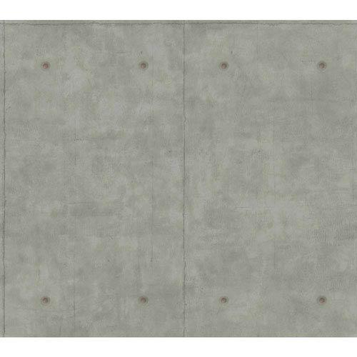 Concrete Dark Gary and Copper Removable Wallpaper