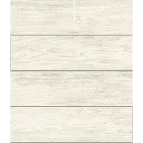 Shiplap Gray and Off White Removable Wallpaper