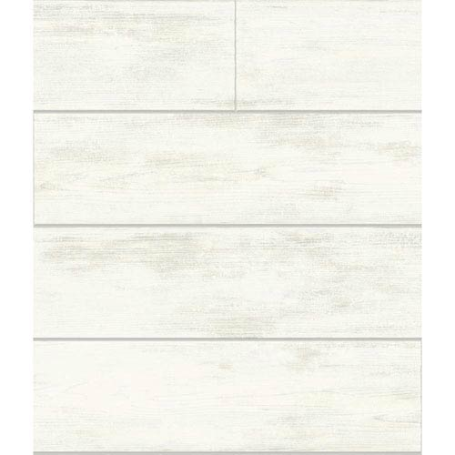 Magnolia Home Shiplap White and Gray Removable Wallpaper