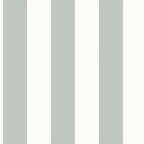 Magnolia Home Awning Stripe Green and White Removable Wallpaper