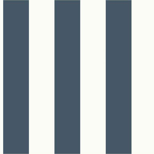 Magnolia Home Awning Stripe Blue and White Removable Wallpaper- SAMPLE SWATCH ONLY