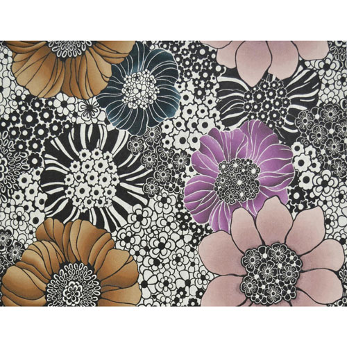 York Wallcoverings Missoni Home Anemones Black Wallpaper - SAMPLE SWATCH ONLY