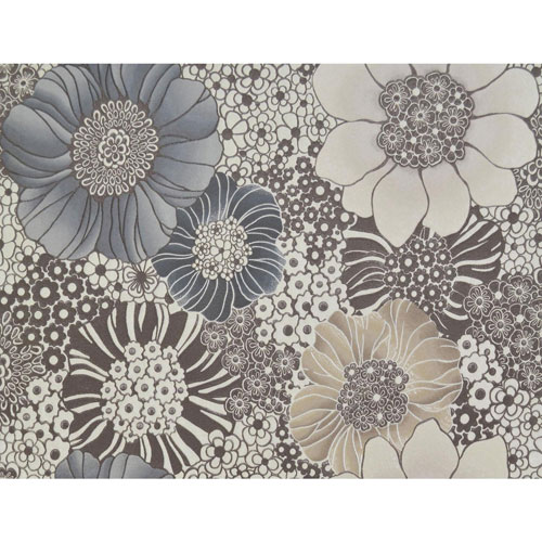 Missoni Home Anemones Brown Wallpaper - SAMPLE SWATCH ONLY
