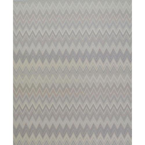 Missoni Home Zig Zag Multicolored Cream and Silver Wallpaper