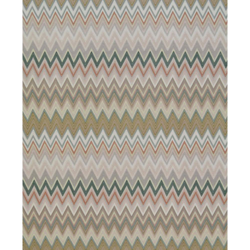 Missoni Home Zig Zag Multicolore Green Wallpaper