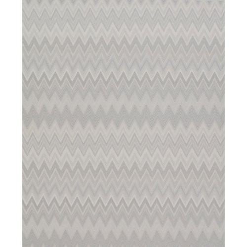 Missoni Home Zig Zag Multicolore Cream and Silver Wallpaper