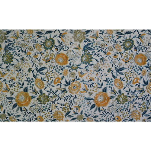 York Wallcoverings Missoni Home Oriental Garden Blue Wallpaper - SAMPLE SWATCH ONLY
