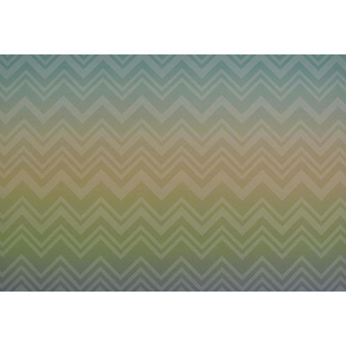 Missoni Home Zig Zag Sfumato Green Wallpaper Mural