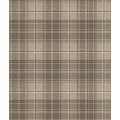 Ronald Redding Houndstooth Cream and Grey Regents Glen Wallpaper