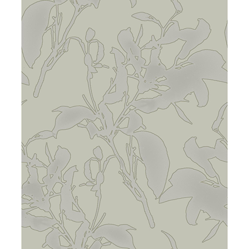Mixed Materials Taupe Botanical Wallpaper - SAMPLE SWATCH ONLY