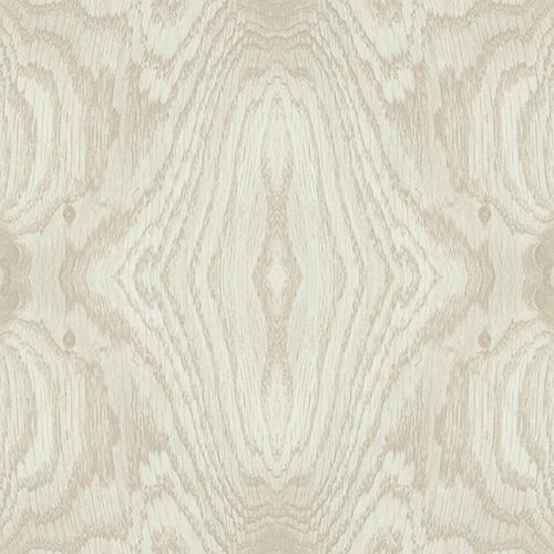 Mixed Materials Beige Wood Veneer Wallpaper - SAMPLE SWATCH ONLY