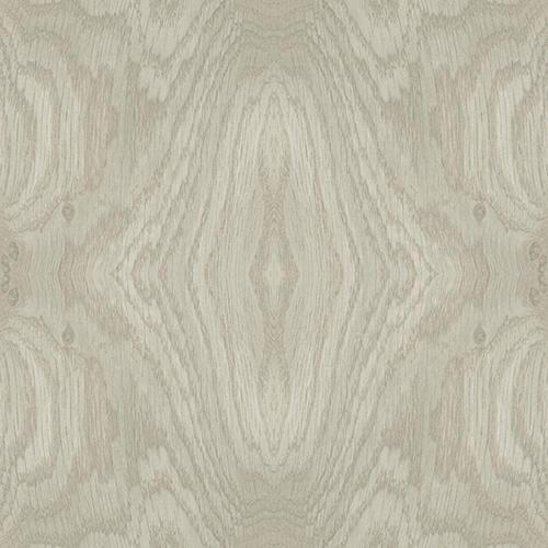 Mixed Materials Taupe Wood Veneer Wallpaper