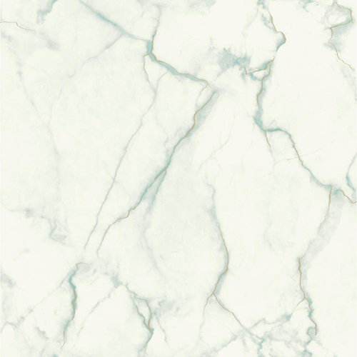 Mixed Materials Turquoise and Gold Marble Wallpaper