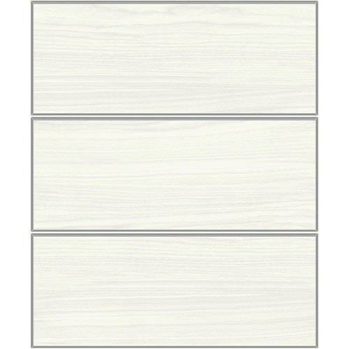 Mixed Materials White and Silver Wood Veneer Wallpaper