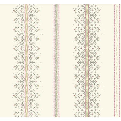 Carey Lind Modern Shapes White and Pink Radiant Filigree Wallpaper