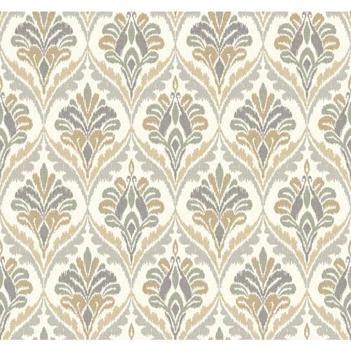 Carey Lind Modern Shapes Off-White and Grey Basilica Wallpaper: Sample Swatch Only