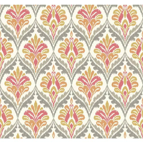 Carey Lind Modern Shapes Cream and Orange Basilica Wallpaper: Sample Swatch Only