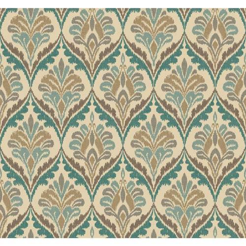 Carey Lind Modern Shapes Cream and Aqua Basilica Wallpaper
