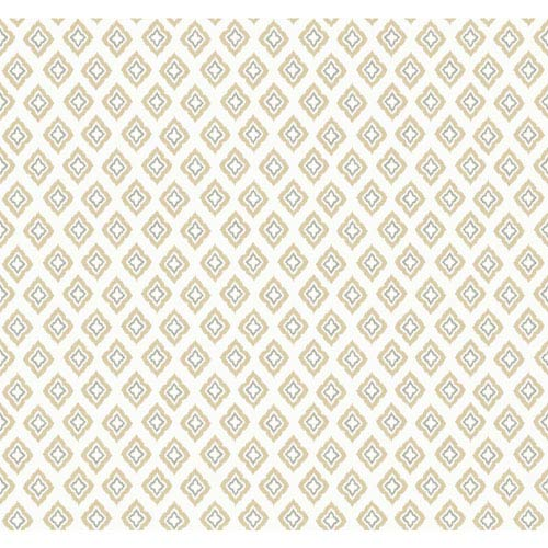 Carey Lind Modern Shapes Cream and Tan Keystone Wallpaper