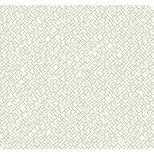 Carey Lind Modern Shapes Off-White and Grey Mason Wallpaper