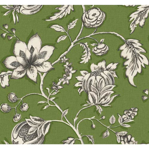 Carey Lind Modern Shapes Green and Off-White Jardin Wallpaper