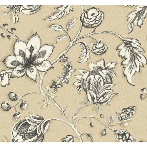 Carey Lind Modern Shapes Cream and White Jardin Wallpaper