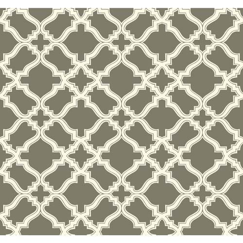Carey Lind Modern Shapes Taupe and Cream Cathedral Wallpaper