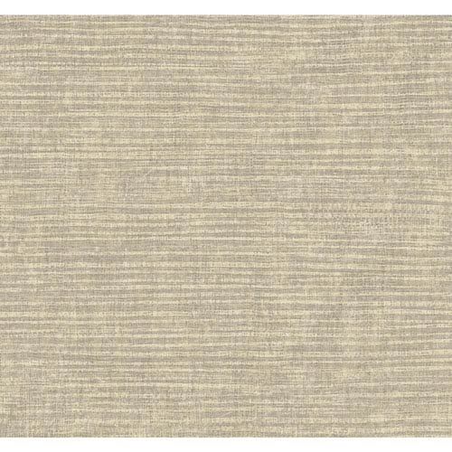 Carey Lind Modern Shapes Soft Gold and Taupe Raffia Wallpaper