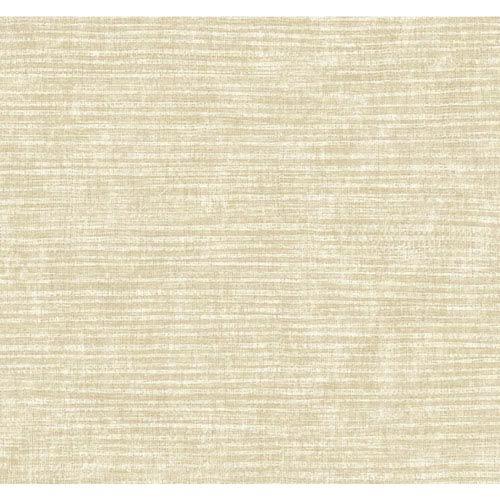 Carey Lind Modern Shapes Beige and Pearl Raffia Wallpaper